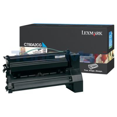 LEXMARK C780 X782 TONER CARTRIDGE CYAN 6K